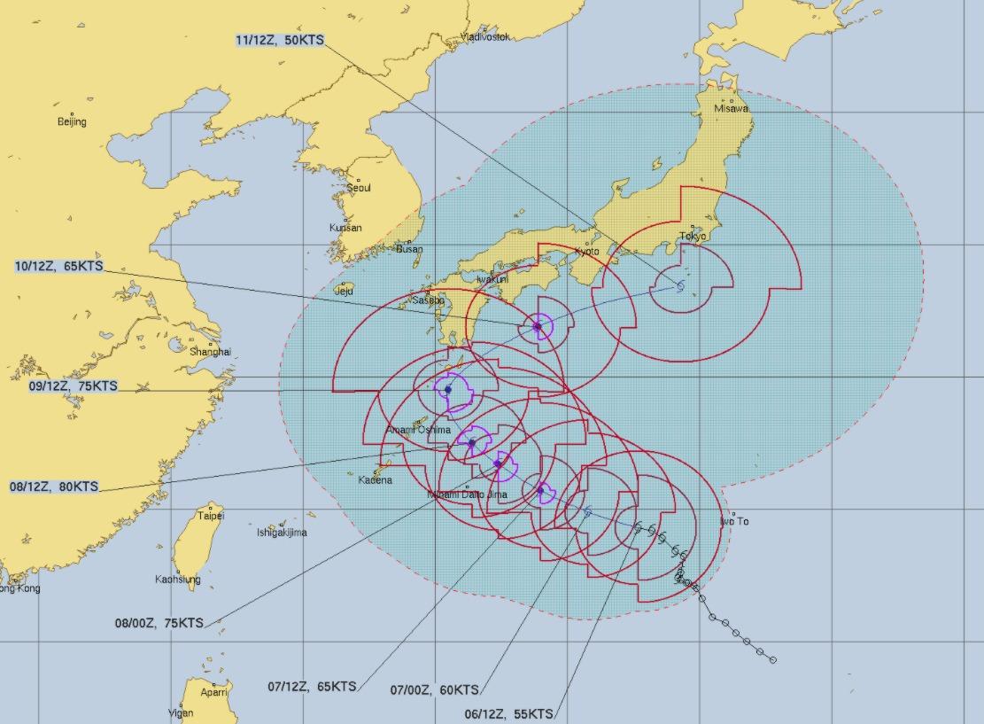 ヨーロッパ 台風 進路